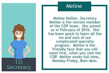 CDP Secretary Meline