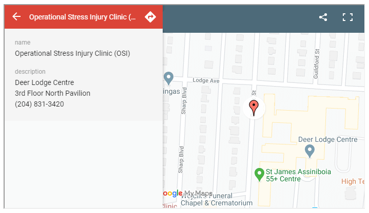 OSI Clinic map