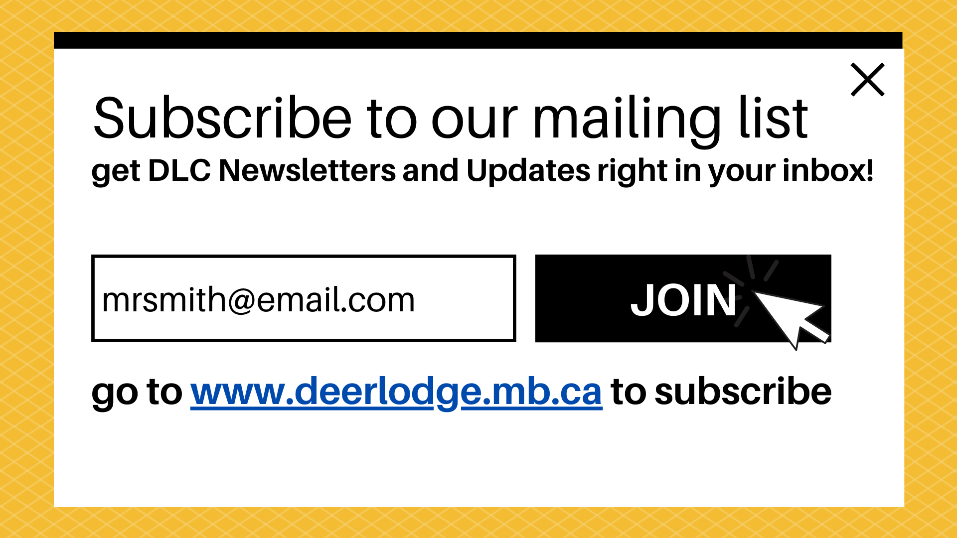 Subscribe to our mailing list to get DLC Newsletters and Updates right in your inbox.  Go to the top of our Front Page to add your email to the list!