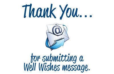 Well Wishes Thank-you message
